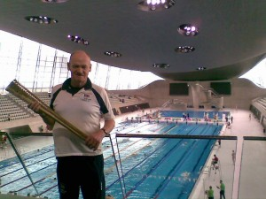 James at the London Olympic Pool